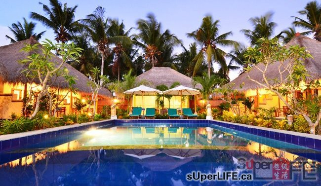 这片民宿天堂是被当地人称为蘑菇别墅,位于巴厘岛的核心.