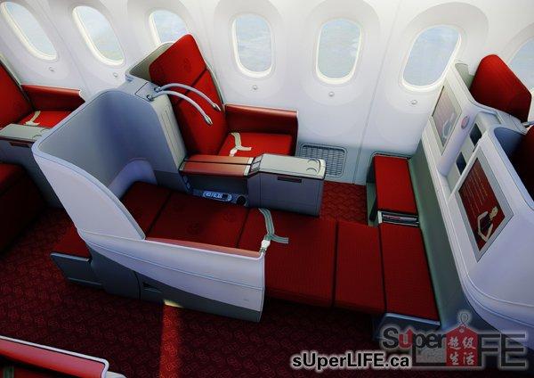 海航787-梦想客机商务舱(效果图)