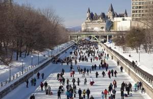 世界最长的溜冰道 渥太华丽都运河滑冰场