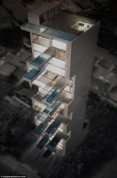 秘鲁首都欲建天空公寓:私人泳池悬半空(组图)