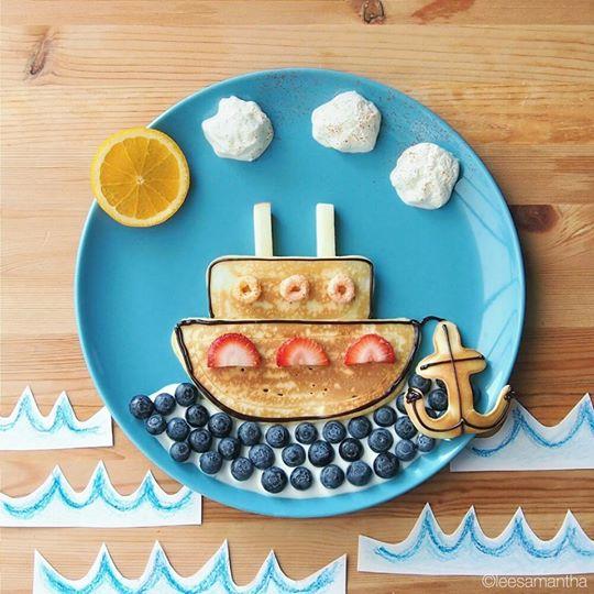 美女妈妈创造餐盘上的童话 | 新闻