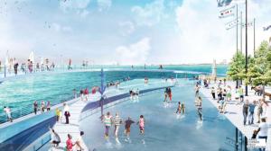 芝加哥海军码头建天桥 走在湖上观美景