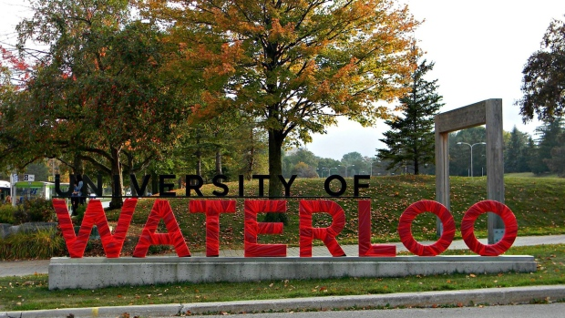 University of Waterloo sign