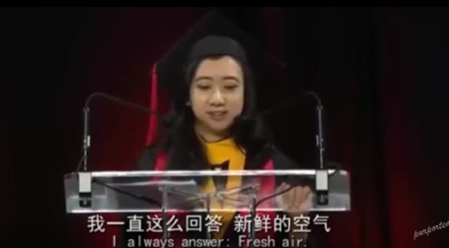 马大力挺留美女生演讲 华裔校长身份被扒