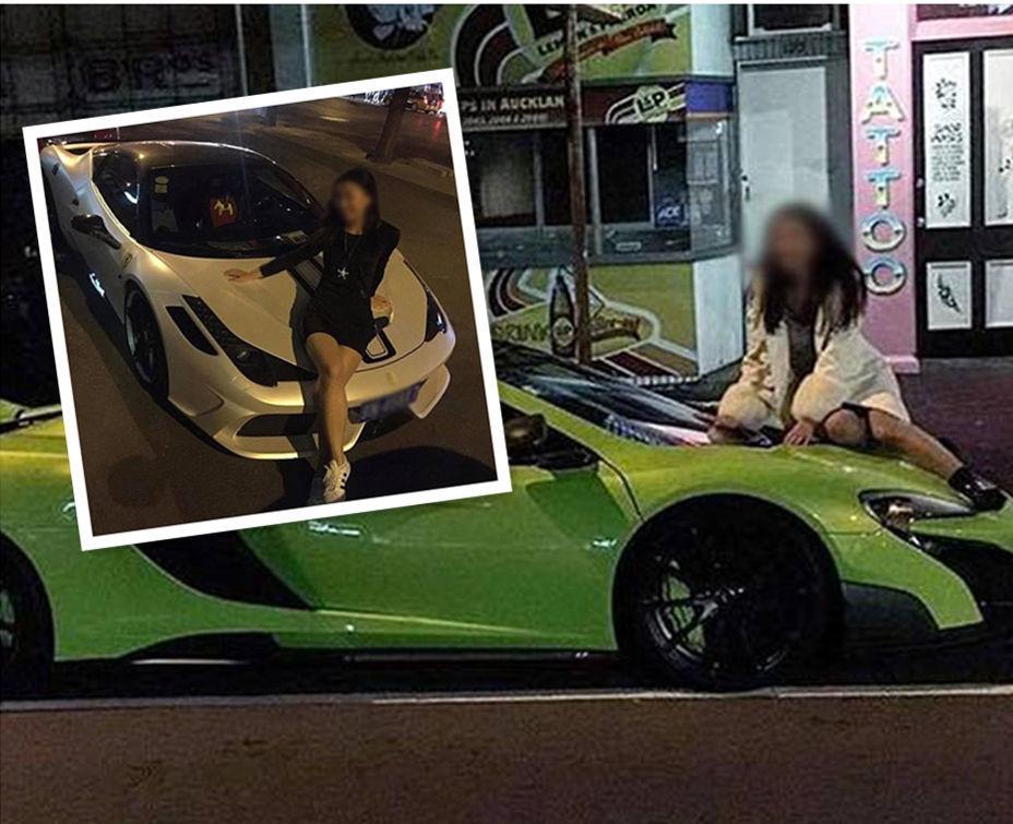 华裔车主怒斥爬上自己豪车的华裔美女