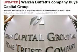 楼市有救了!巴菲特投资4亿加元入股房贷