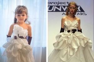 年仅5岁美国小女孩被誉为天才时装设计师