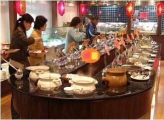 中国人吃自助餐, 韩国人吃自助餐, 美国人吃自助餐, 区别非常明显