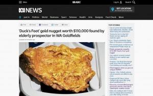 退休后淘金 锲而不舍挖到250万元金块
