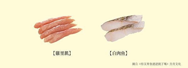 养肠胃食物六:脂肪含量少的肉类、鱼类。(方舟文化提供)