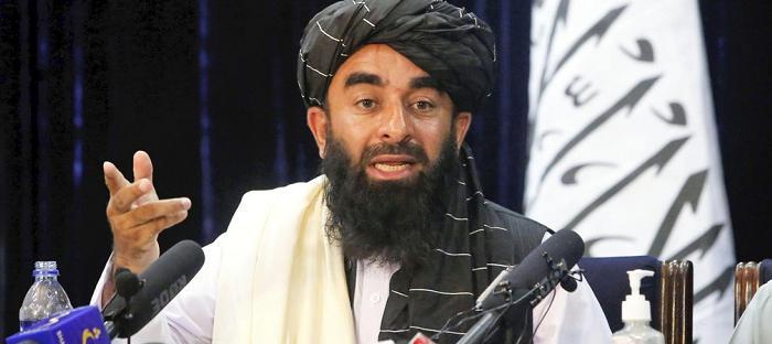 阿富汗塔利班发言人扎比乌拉·穆贾希德 图自德新社
